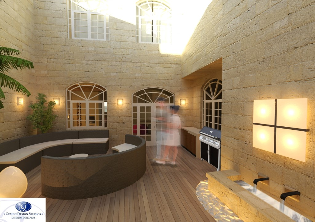 Courtyard Modern Interior Design Malta