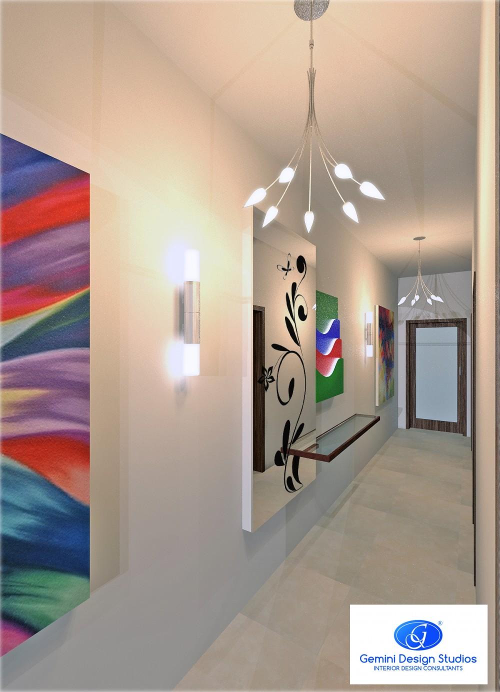 Interior design malta corridor floral decal modern for Modern home decor malta