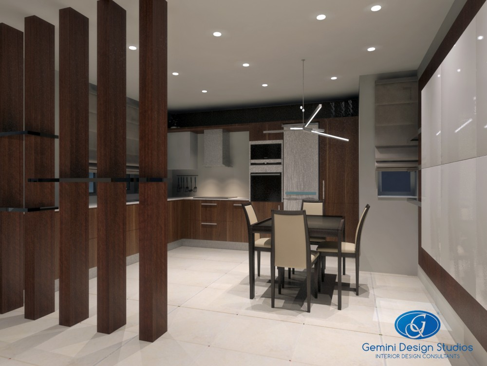 Residential modern interior design malta gemini design studios ltd - Partition in interior designing ...