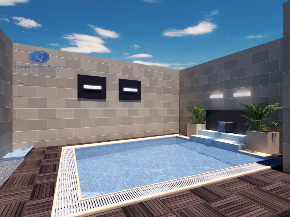 Residential modern interior design malta gemini for Pool design malta