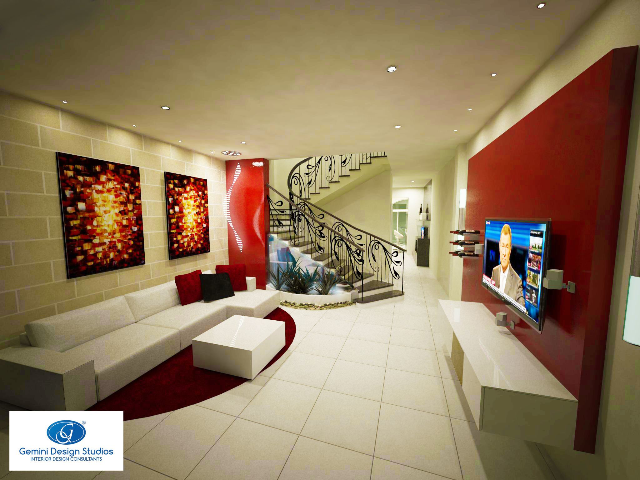 Living Room Town House Interior Design Malta