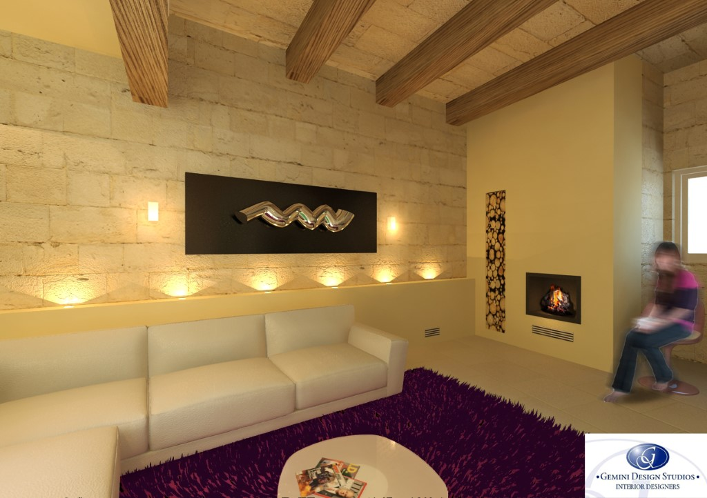 Modern Fireplace Interior Design Malta