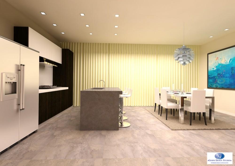 Modern kitchen dining interior design for Modern home decor malta