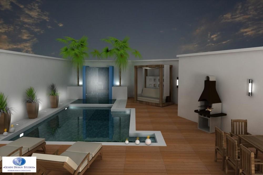 Modern pool interior design for Pool design malta