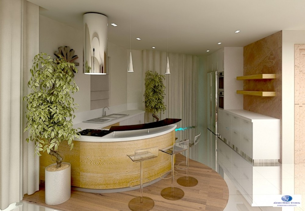 Round kitchen interior design for Modern home decor malta